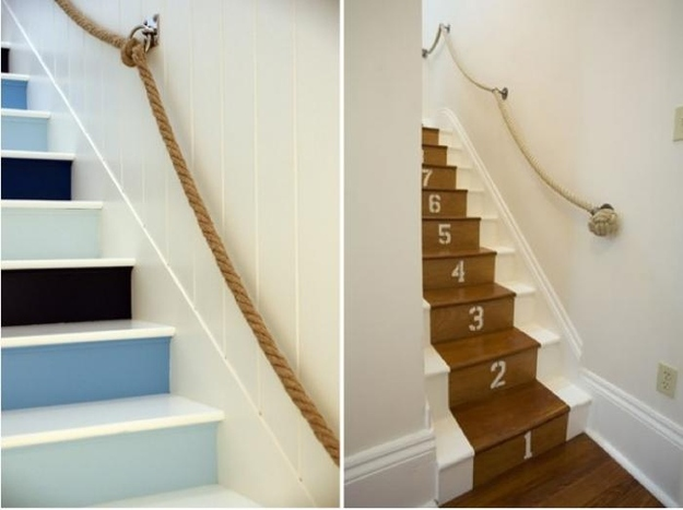 6. Nautical Rope Banister