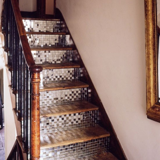 Mirrored-mosaic-staircase