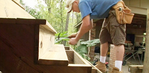 How to Build Wooden Deck Stairs